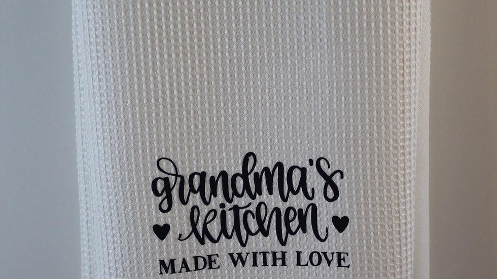 grandma's kitchen tea-towel