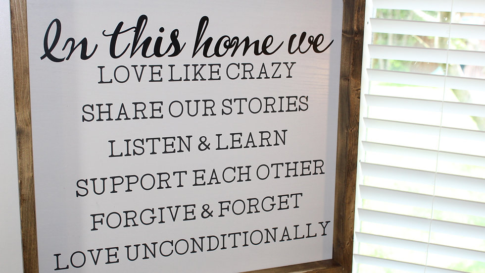 In this home sign
