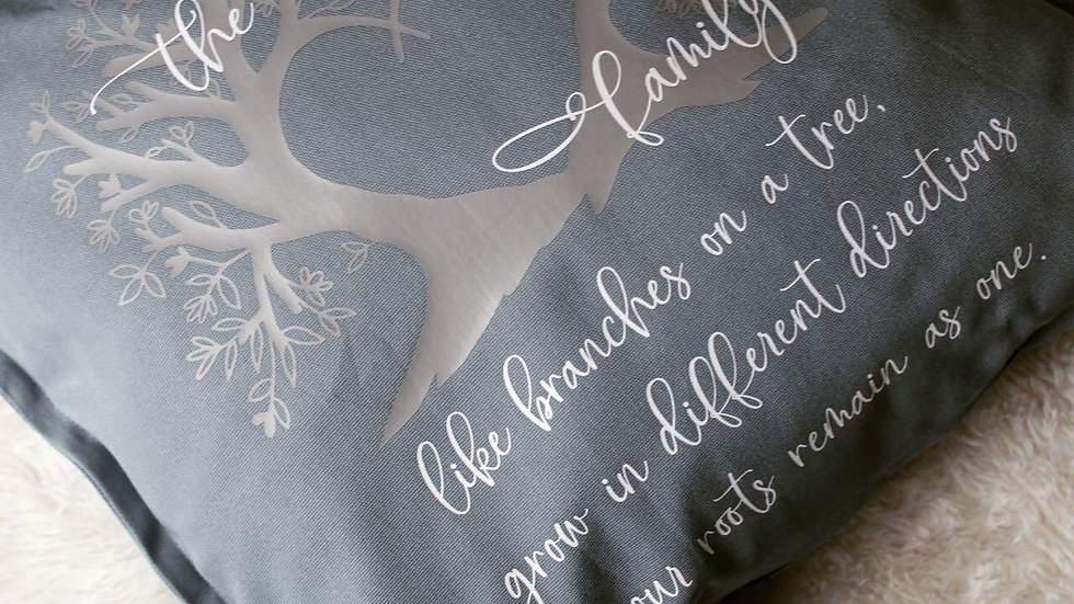 Family name tree pillow