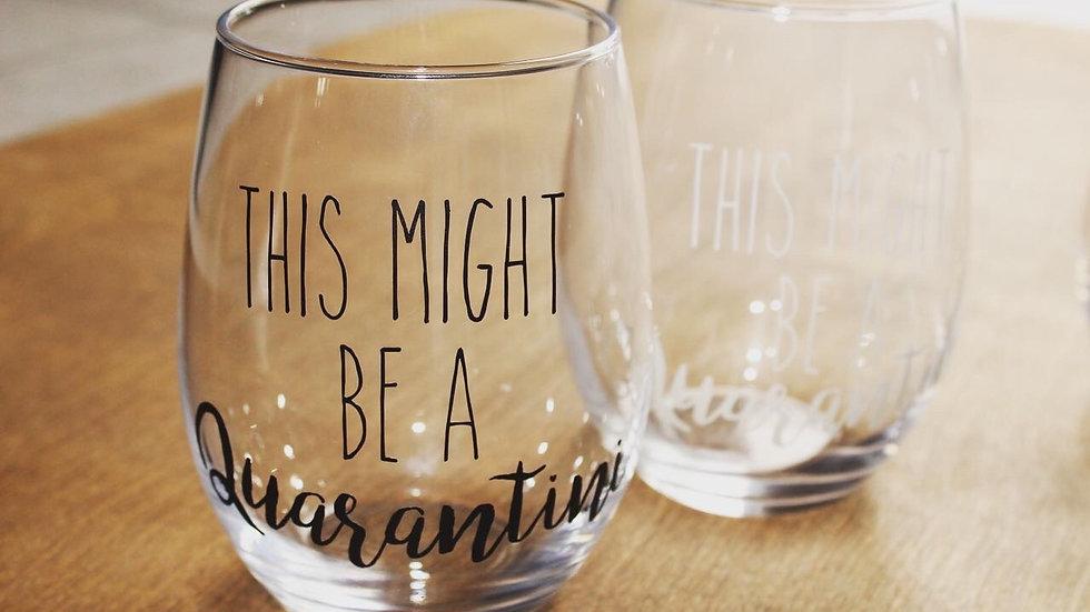 Covid 19 wine glasses