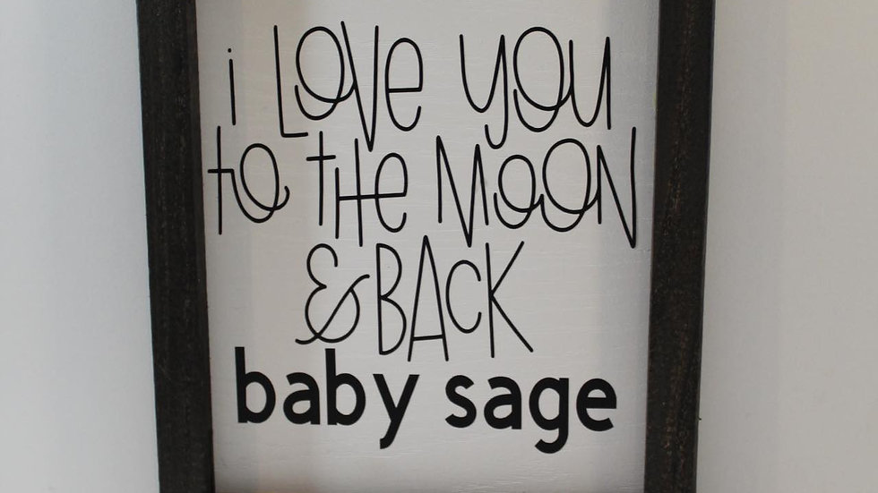 love you to the moon custom name sign