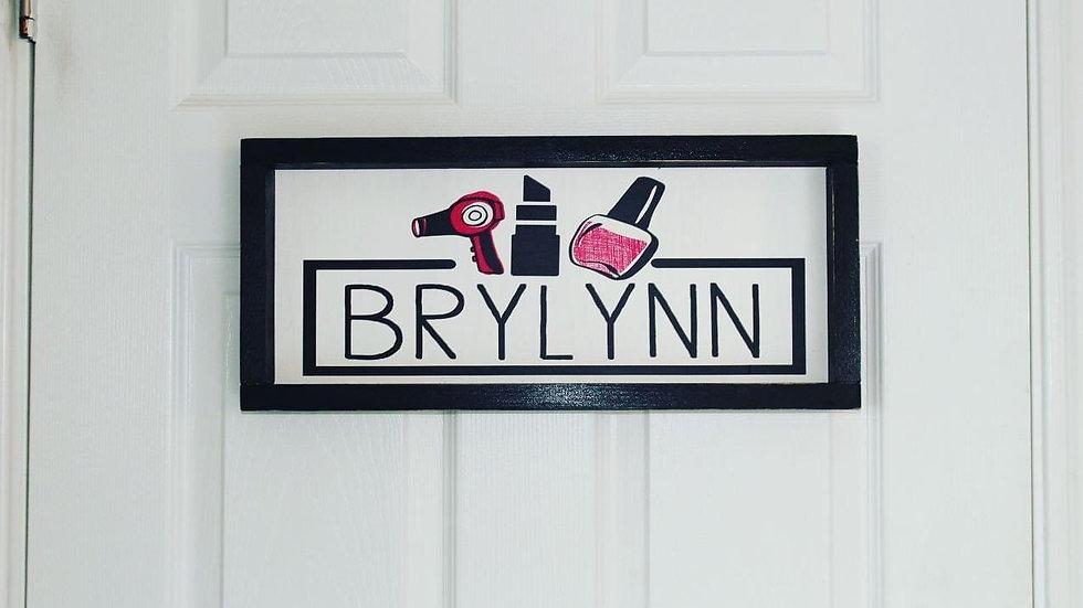 Custom design/name door sign