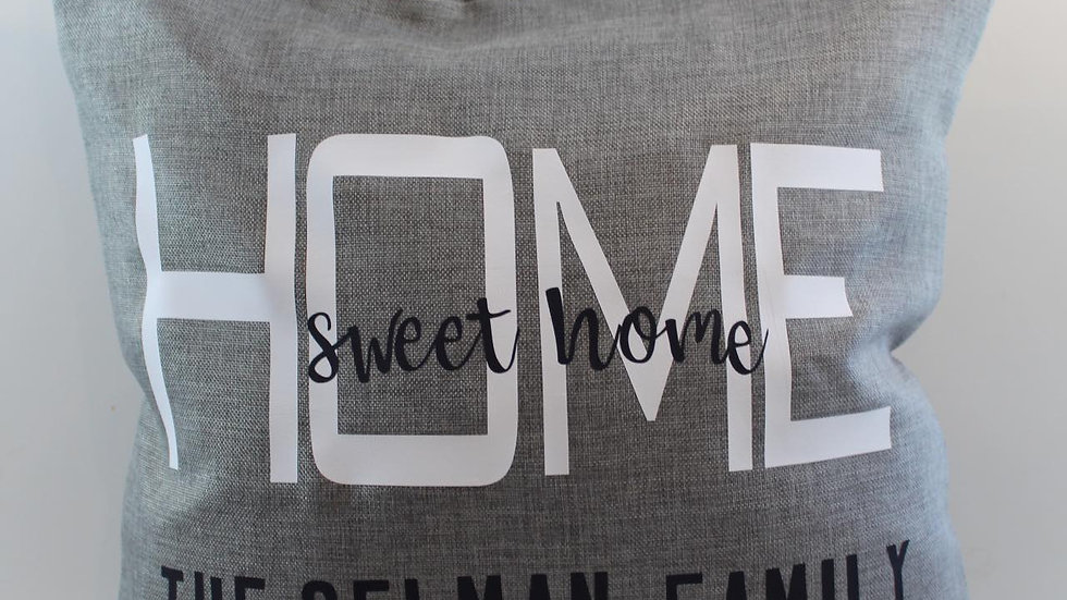 custom family name pillow