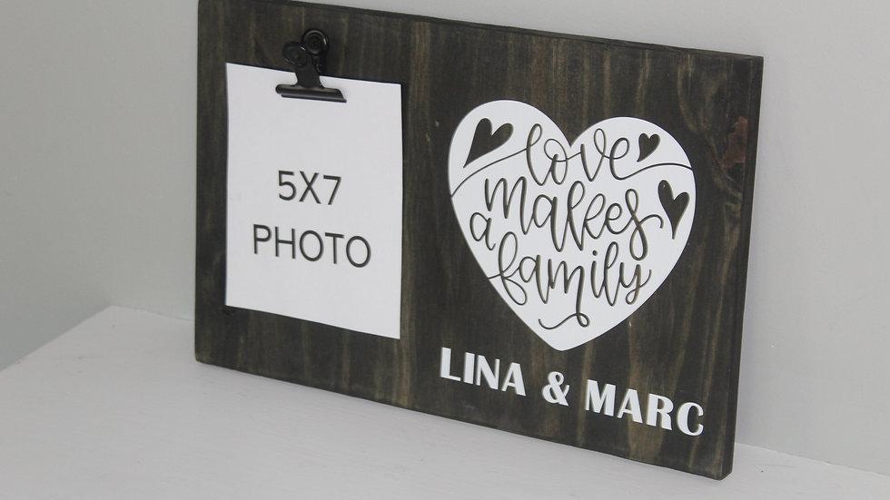 Cedar wood sign for 5x7 photo