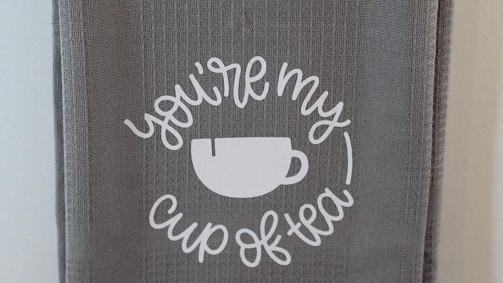 cup of tea , tea-towel