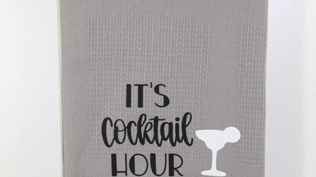 cocktail hour teatowel