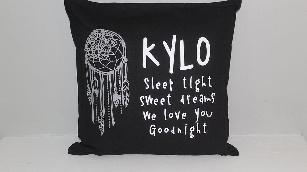 Sleep tight pillow custom name