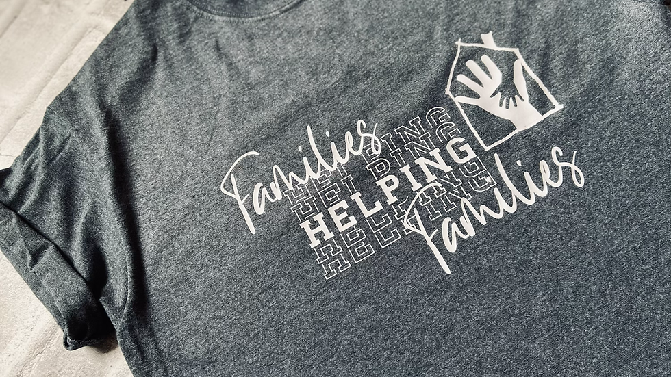 Families helping families adult tee