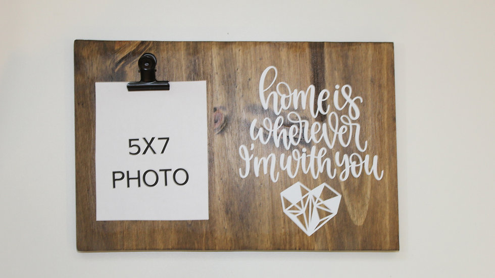 5x7 home is frame