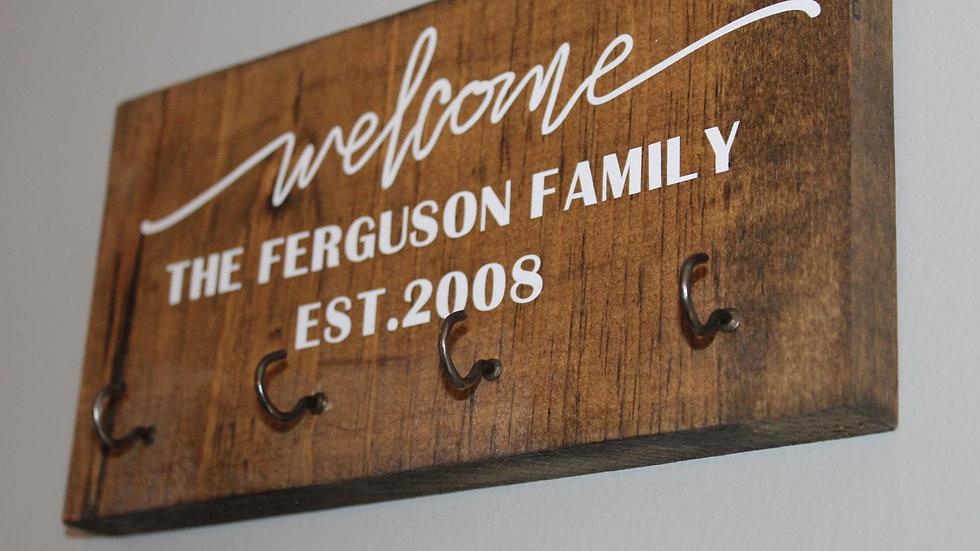 custom family name key rack