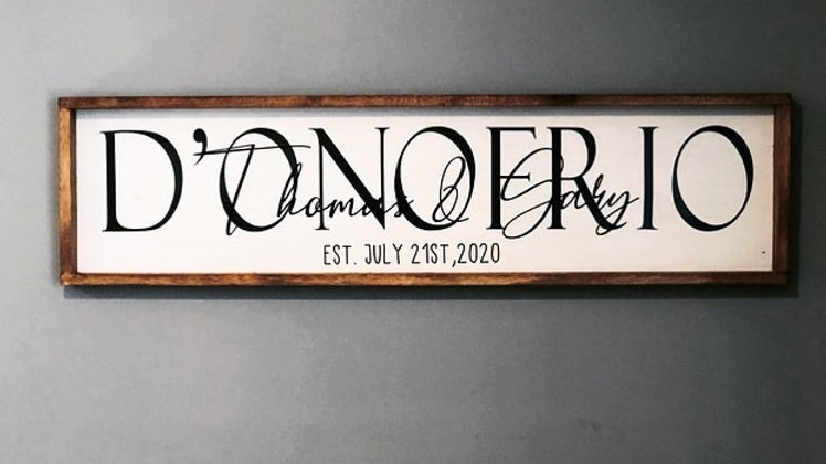 Xl 4 foot family name sign