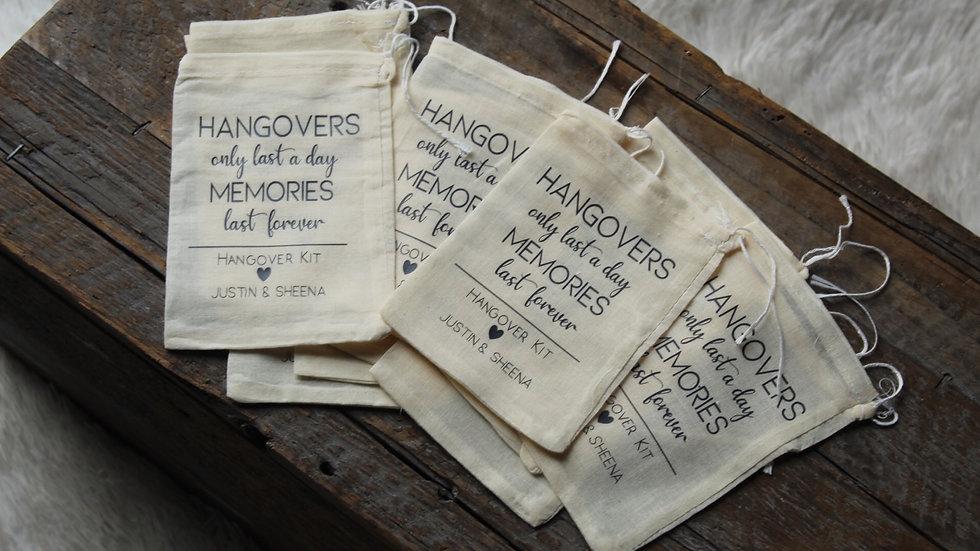 "Custom 3x5"" wedding favor bags"