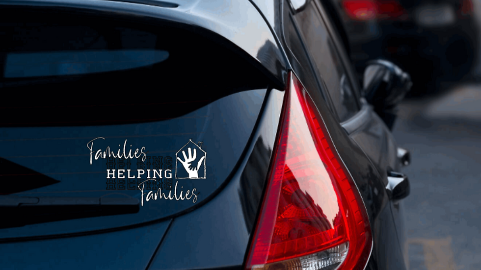 Families helping families car decal