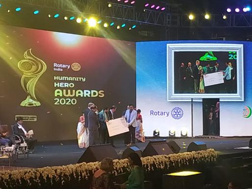 Rotary India Humanity Hero Award 2020 in Health Care