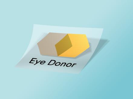 Eye donor sticker