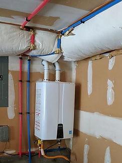 Tankless water tank installation in Milton, WA