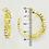Thumbnail: 4cm Gold Rhinestone Chain Clip On Hoop Earrings