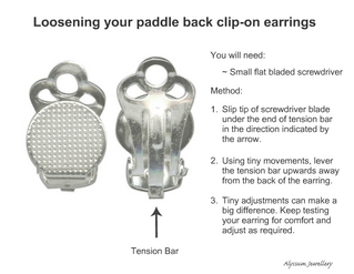 How to Adjust Your Clip-On Earrings