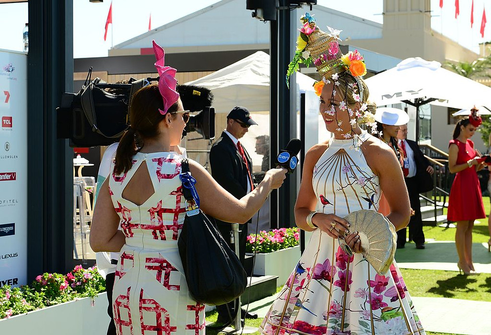Fashion on the Fields Being Interviewed