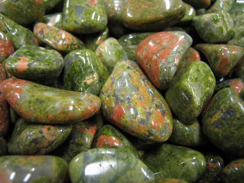 Tumbled Unakite Stones