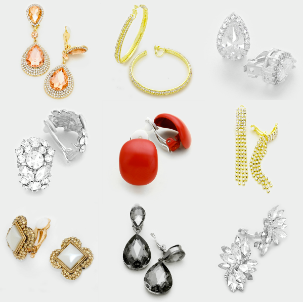 Variety of Different Clip-On Earrings