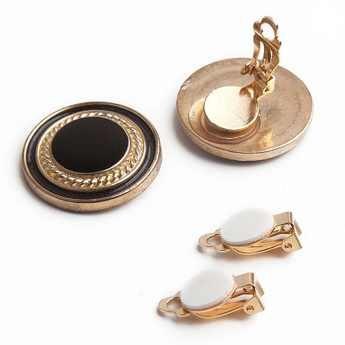 Adhesive Post to Clip Earring Converters, Gold