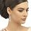 Glitzy Pearl Drop Earrings, Clip On, on model