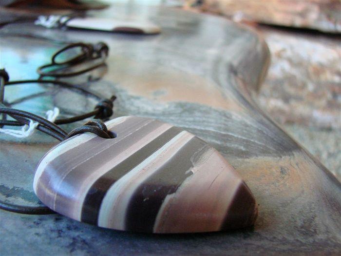 Hand-carved Zebra Stone Pendant