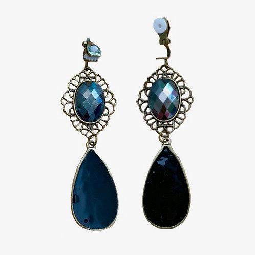 Boho Ethnic Antiqued Gold Drop Earrings