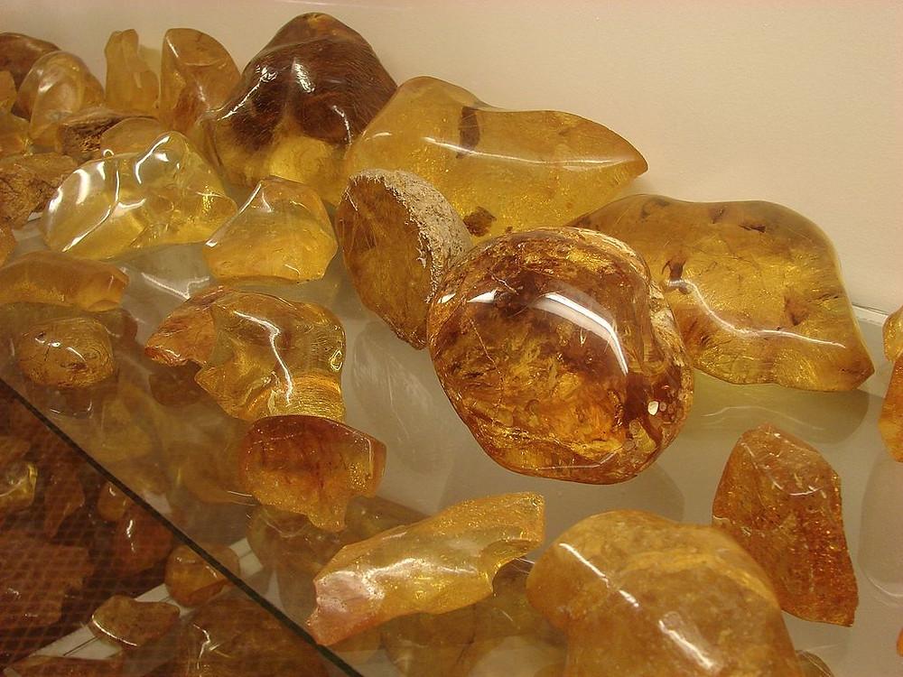 Polished Copal Gemstones