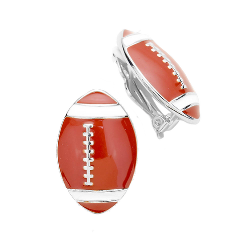 American Football Clip On Earrings