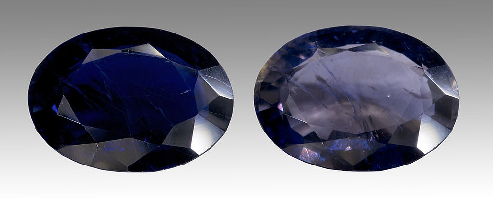 Iolite Faceted Crystals