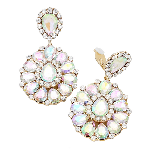 Large statement clip-on earrings for non pierced ears