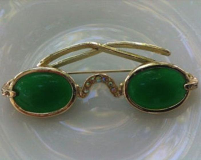 Shiels Genuine Emerald Lens Sunglasses