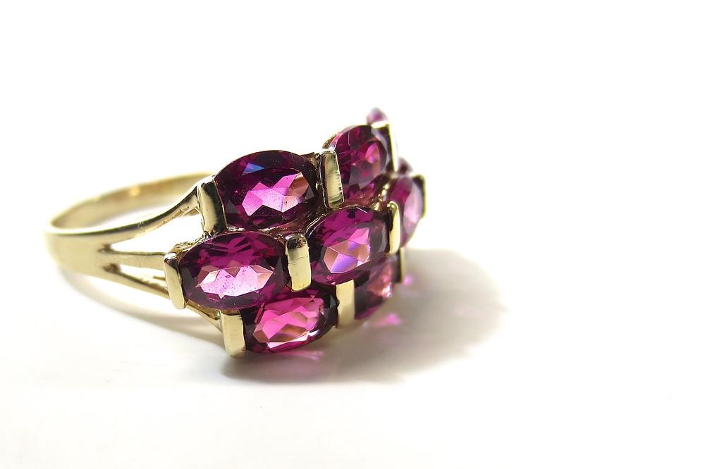 Rhodolite Gemstone Ring