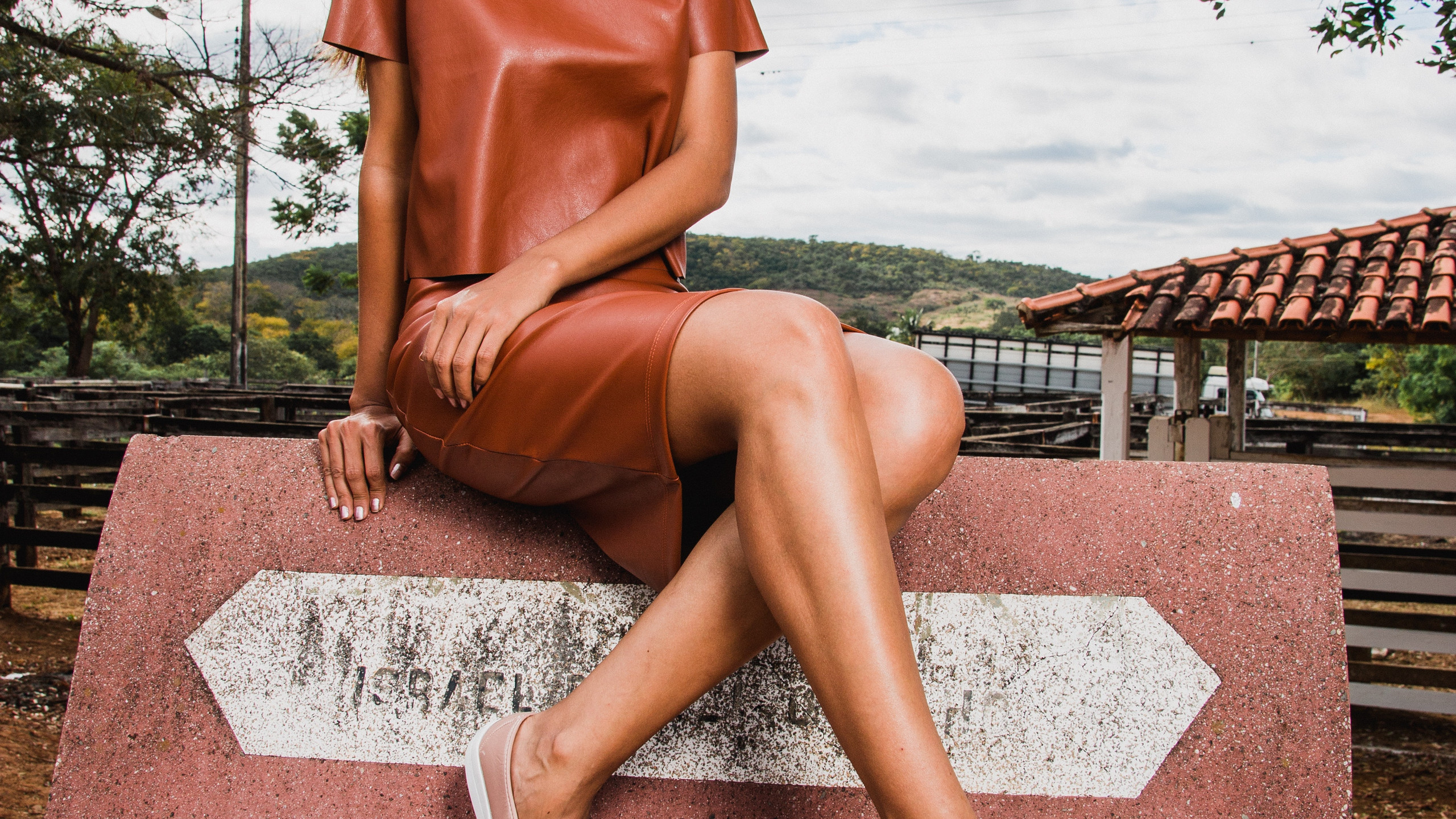 Terracotta Top and Skirt