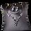 CZ Vine Clip-On Earring Bridal Necklace Set