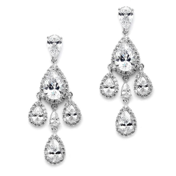 Girandole clip on earrings in the Victorian style