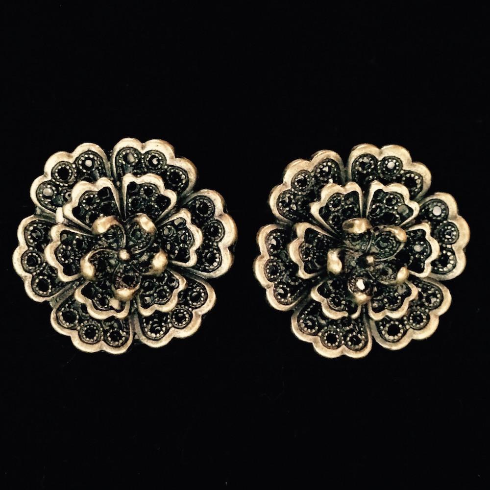 Antiqued earrings