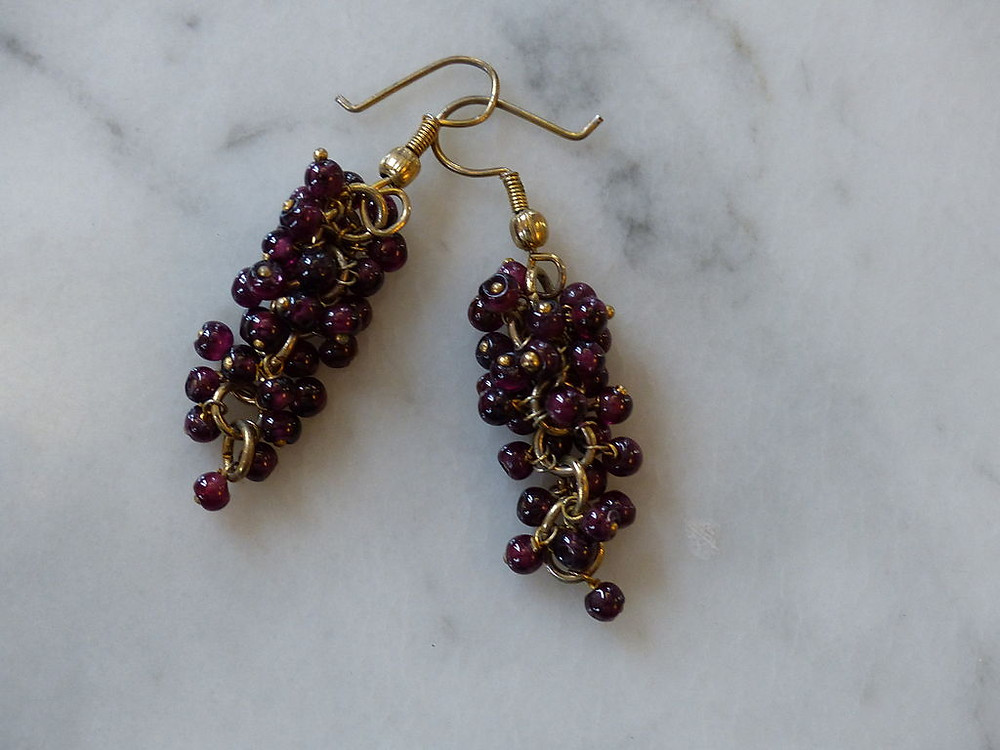 Victorian Garnet Pomegranate Seed Earrings