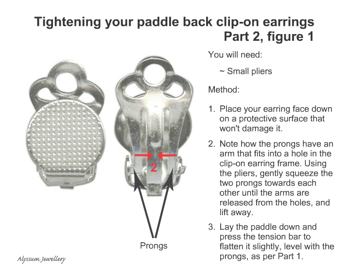 How to tighten paddle back clip-on earrings part 2