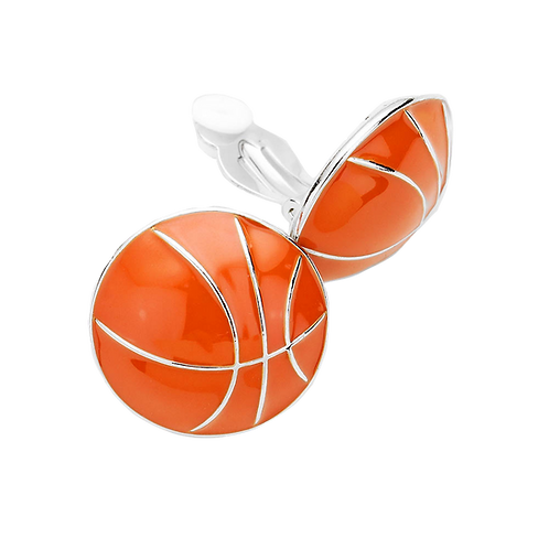 Basketball Clip On Earrings
