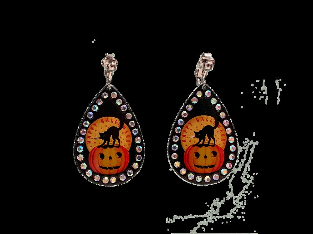 Halloween Clip On Earrings