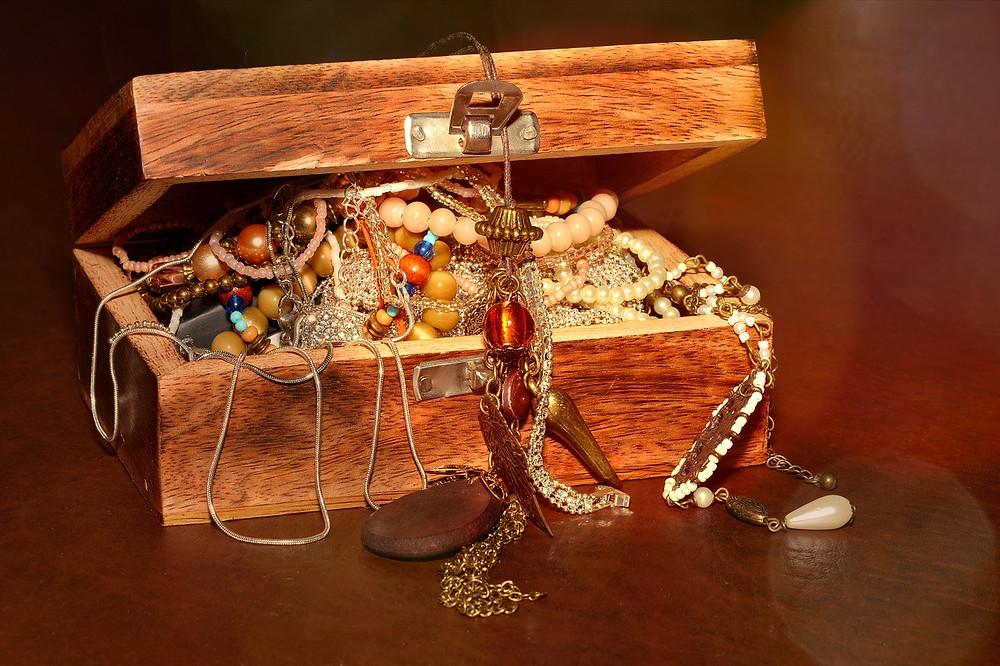 Overflowing Jewelry Box