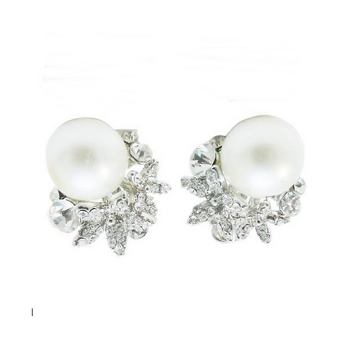 Pearl and Crystal Bridal Earrings