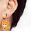 Cute Fox Clip On Earrings on Model