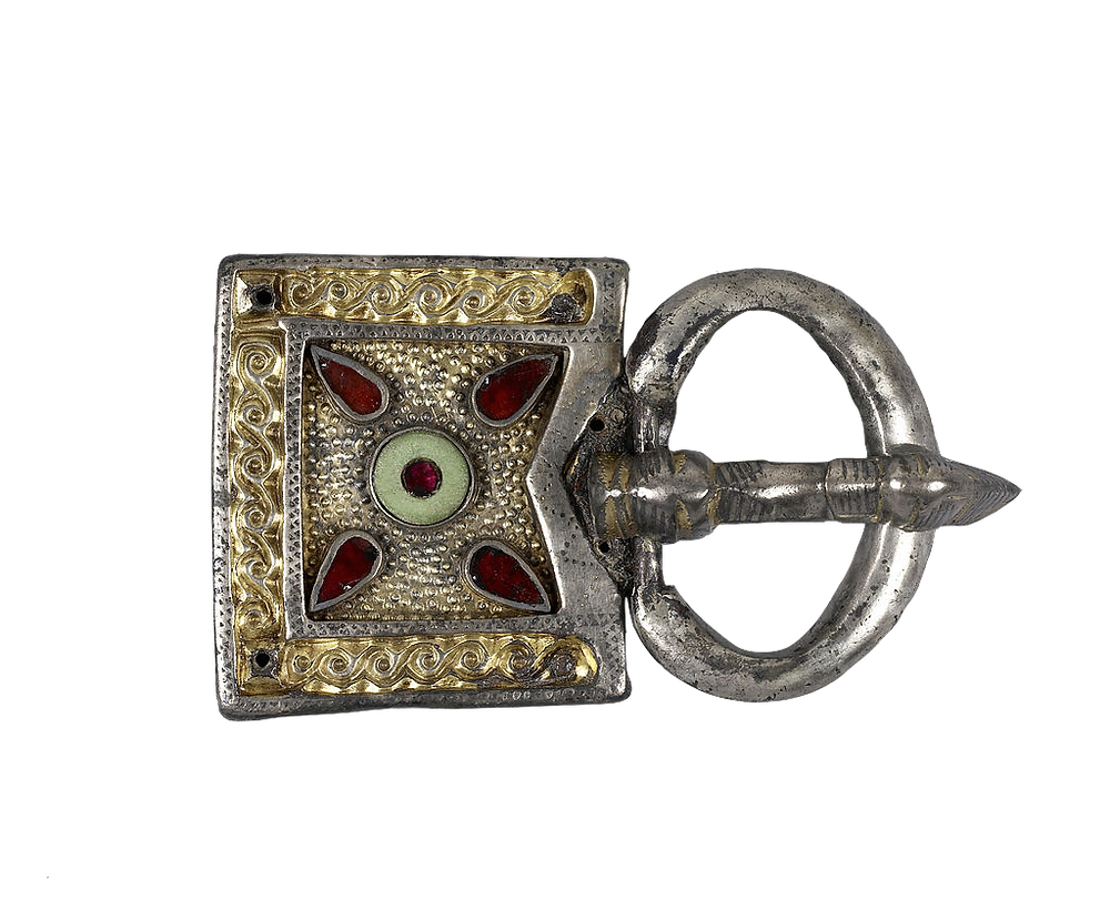 Early Middle Ages Belt Buckle With Garnet Decoration