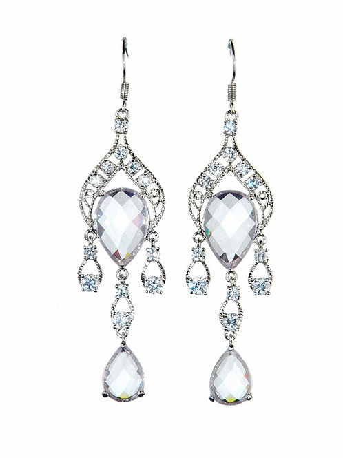 Moroccan chandelier crystal earrings by Prive Bridal