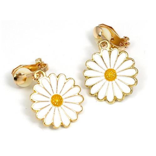 Cheerful Daisy Clip Earrings