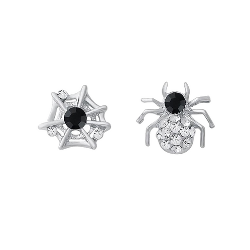 Halloween Spider and Web Clip-on Earrings